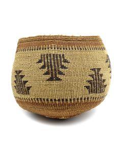 "Yurok Twined Basket c. 1900s, 5"" x 6"" (SK90814-0920-008)"