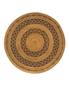 """Yokuts Tray with Banded Design c. 1890s, 1.5"""" x 19"""" (SK90828B-0620-001)"""