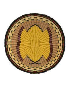 """Hopi Polychrome Wicker Plaque c. 1960s, 1.5"""" x 14"""""""