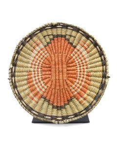 "Lot 239 - Hopi Polychrome Wicker Plaque with Butterfly Pictorial c. 1950s, 1"" x 11.25"" (SK91051-1018-055)"