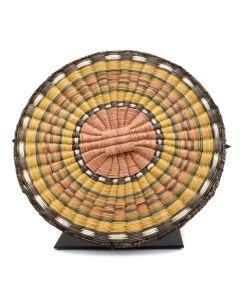 "Hopi Wicker Plaque c. 1950s, 0.75"" x 11.25"""