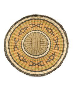 """Hopi Polychrome Wicker Plaque c. 1950s, 1"""" x 11"""" (SK91102A-1120-007)"""