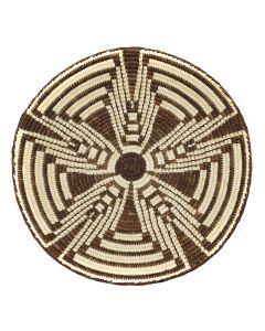 "Edith Martinez - Tohono O'odham Squash Blossom Basket c. 1980s, 3"" x 15.5"" (SK01138A-0120-001)"