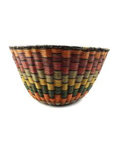 "Hopi Polychrome Peach Basket c. 1970-80s, 8.25"" x 15"" (SK91138A-0120-007)"