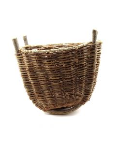 "Hopi Peach Basket with Leather Strap, 10"" x 12.5"" x 10"" (SK91138A-0120-014)"