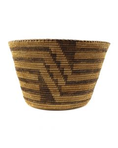 "Pima Basket with Banded Designs c. 1900s, 7.75"" x 13"" (SK91138A-0120-016)"