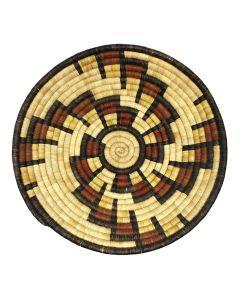 """Hopi Polychrome Basket with Spiral Design c. 1950s, 2"""" x 14.5"""" (SK91140A-0220-005)"""