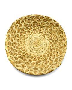 "Tohono O'odham Gap Stitch Basket c. 1960s, 1.5"" x 9"""