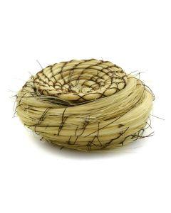 """Tohono O'odham Miniature Horsehair Lidded Basket c. 1960s, 1"""" x 2"""" 1"""
