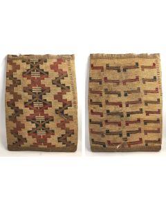 "Nez Perce Corn Husk Bag (Double Sided), c. 1900, 24"" x 18"""