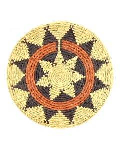 "Navajo Wedding Plaque c. 1990s, 15.5"" diameter"