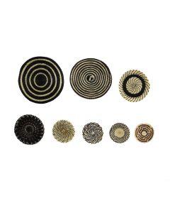 Group of 8 Miniature Contemporary Tohono O'odham Horsehair Plaques (SK91369B-0321-049)