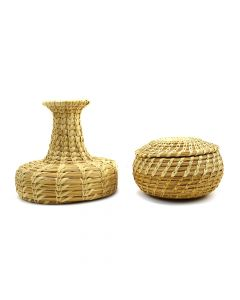 Set of 2 - Tohono O'odham Gap Stitch Baskets c. 1960s