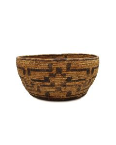 "Pima Basket with Geometric Design c. 1890s, 5.5"" x 11.25"" (SK91370A-0521-025)"