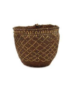 "Quinault Basket c. 1900s, 6"" x 7.5"" (SK91370A-0521-030)"