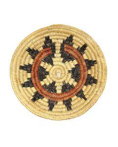 "Navajo Wedding Basket c. 1970s, 11.75"" diameter (SK91370A-0521-037)"