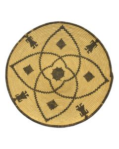 "Apache Figurative Basket c. 1890-1900s, 3"" x 17"""
