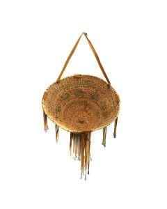 """Apache Burden Basket c. 1950s, 12"""" x 22"""""""
