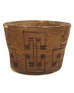 "Pima Basket with Geometric Design c. 1890s, 7.25"" x 10"" (SK91660-0521-001)"