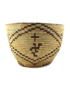 """Tohono O'odham Basket c. 1940s, 10.5"""" x 15.5"""" (SK91819-125-001) (SK91819-125-001)"""