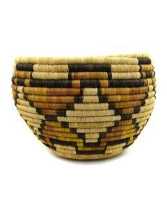 """Hopi Polychrome Coiled Basket c. 1950s, 8"""" x 11"""""""