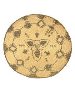 "Apache Friendship Basket with Geometric Design c. 1900s, 3.25"" x 16.5"""
