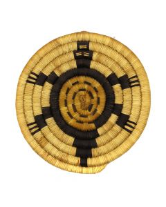 "Dora Poungyouma - Hopi Coiled Turtle Plaque c. 1987, 7.75"" diameter (SK91972C-0120-004)"