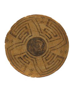 "Pima Basket with Whirling Logs Design c. 1890s, 3.75"" x 17"" (SK92023-0120-001)"