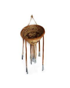 "Marjory Dudley - Large Contemporary Apache Burden Basket, 14.5"" x 9.25"" (SK92350A-0621-003)"