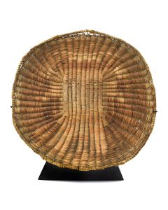 "Hopi Wicker Plaque with Kachina Pictorial c. 1910s, 14.25"" x 4"" x 1.5"" (SK92461-0912-006)"