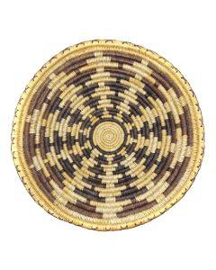 "Navajo Polychrome Coiled Tray c. 1980-90s, 2.5"" x 15.5"" (SK02482-0220-035)"