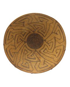"Large Pima Basket with Geometric Designs c. 1890s, 9.5"" x 21.25"" (SK92482-0220-039)"