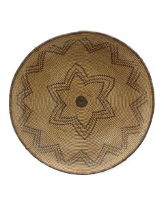"Large Apache Polychrome Star Design Tray with Custom Hanger, c. 1890, 4"" x 20"""