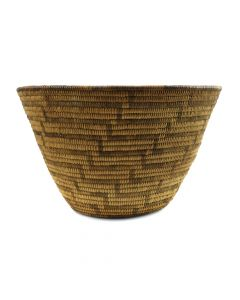 "Pima Basket with Lightning Design c. 1900s, 6.5"" x 10.75"""