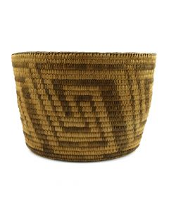"Pima Basket with Geometrical Design c. 1910s, 6.25"" x 8.75"""