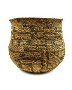"Pima Olla Design Basket c. 1910s, 8.5"" x 9.75"""