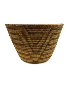 "Pima Basket with Geometric Design c. 1910s, 7.25"" x 11.25"""