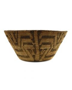 "Pima Basket with Geometric Design c. 1910-20s, 6"" x 13"""