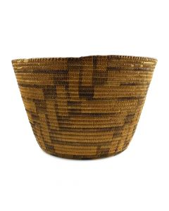 "Pima Basket with Geometric Design c. 1910s, 8"" x 12.5"""