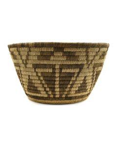 "Pima Basket with Geometric Design c. 1930s, 6"" x 11"""
