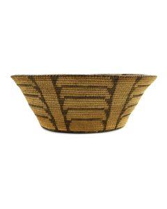 """Pima Basket c. 1900s, 4"""" x 11"""""""