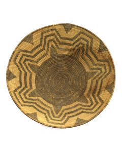 "Pima Basket with Geometric Design c. 1890-1900s, 8.25"" x 17.25"""