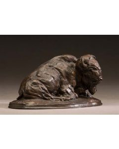 SOLD Richard Loffler - Reclining Buffalo