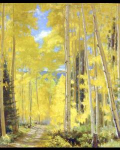 SOLD Bert Geer Phillips (1868-1956) - Aspens in Fall
