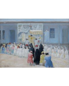 SOLD Bert Geer Phillips (1868-1956) - Corpus Christi Sunday in Taos