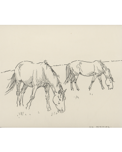 SOLD Don Perceval (1908-1979) - Two Horses