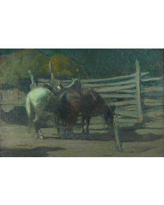 SOLD O.E. Berninghaus (1874-1952) - In the Corral