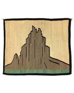 "Navajo Shiprock Pictorial Rug c. 1940s, 41"" x 49"" (T1024-CO)"