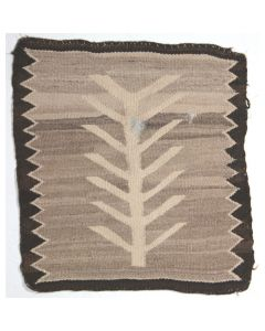 "Navajo Cornstalk Pictorial Rug, c. 1920s, 18"" x 16"" (T1032-CO)"