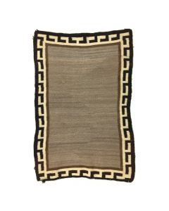 "Navajo Double Saddle Blanket, c. 1900, 47"" x 31"""